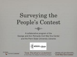 Surveying the  People's Contest