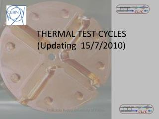 THERMAL TEST CYCLES ( Updating   15/7/2010 )