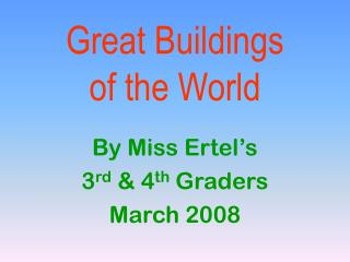 Great Buildings of the World