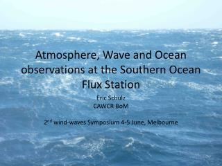 Atmosphere, Wave and Ocean observations at the Southern Ocean Flux Station