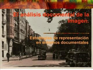 El an lisis documental de la imagen.