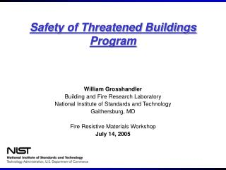 Safety of Threatened Buildings Program