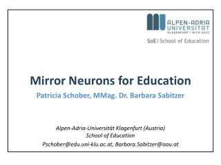 Mirror Neurons for Education