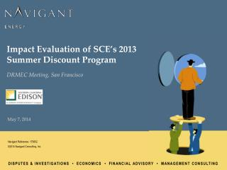 Impact Evaluation of SCE's 2013 Summer Discount Program