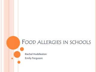 Food allergies in schools