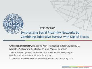 Synthesizing Social Proximity Networks by Combining Subjective Surveys with Digital Traces