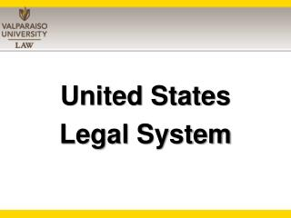United States  Legal System