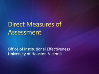 Direct Measures of Assessment