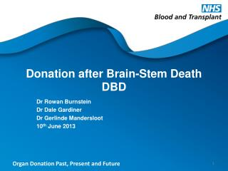 Donation after Brain-Stem Death DBD