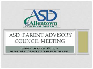 ASD  Parent Advisory Council Meeting