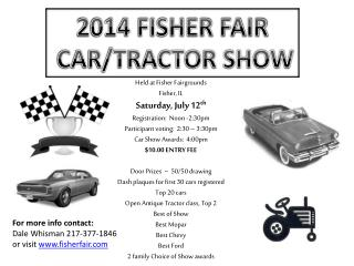 2014  FISHER FAIR  CAR/TRACTOR SHOW