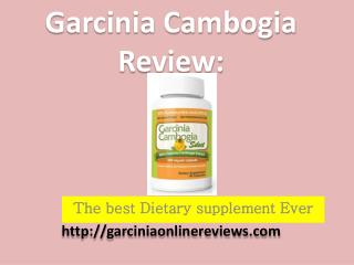 Garcinia cambogia review-The Natural Diet Supplements