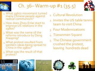 Ch. 36– Warm-up #1 (35.5)
