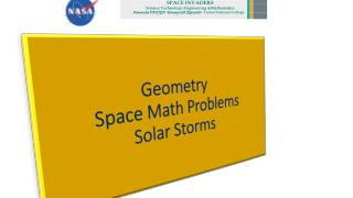 Geometry  Space Math Problems Solar Storms
