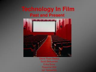 Technology In Film