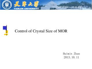 Control of Crystal Size of MOR