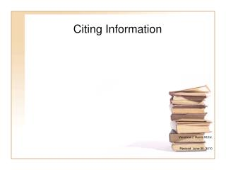 Citing Information