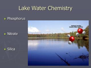 Lake Water Chemistry