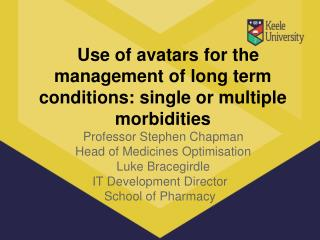 Use of avatars for the management of long term conditions: single or multiple morbidities