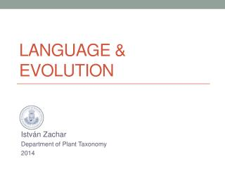 LanguaGE & Evolution