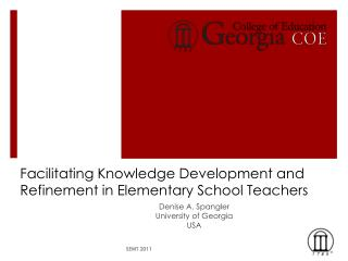 Facilitating Knowledge Development and Refinement in Elementary School Teachers