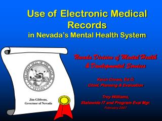 Use of Electronic Medical Records  in Nevada's Mental Health System