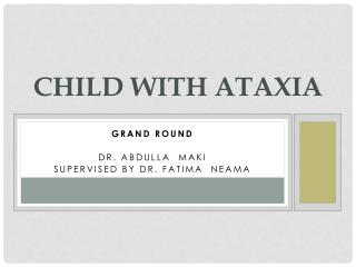 Child with ataxia