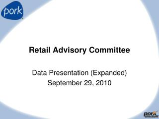 Retail Advisory Committee