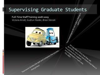 Supervising Graduate Students