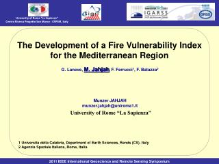 The Development of a Fire Vulnerability Index for the Mediterranean Region