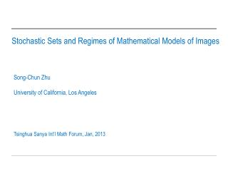 Stochastic Sets and Regimes of Mathematical Models of Images