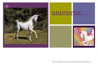 unicorns…