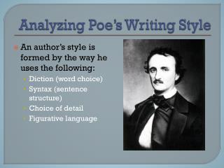 Analyzing Poe's Writing Style