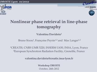 Nonlinear phase retrieval in line-phase  tomography