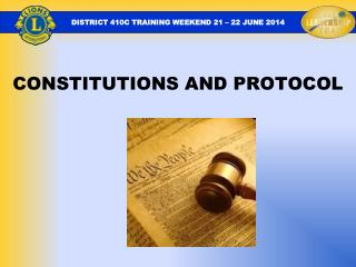 CONSTITUTIONS AND PROTOCOL