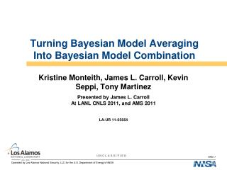 Turning Bayesian Model Averaging Into Bayesian Model Combination