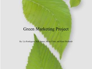 Green Marketing Project