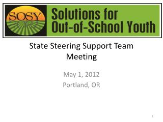 State Steering Support Team Meeting