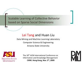Scalable Learning of Collective Behavior based on Sparse Social Dimensions