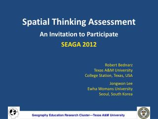 Spatial Thinking Assessment