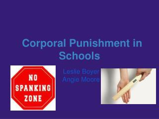 Corporal Punishment in Schools