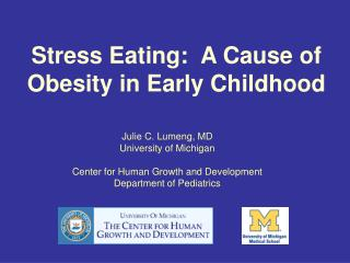 Stress Eating:  A Cause of Obesity in Early Childhood