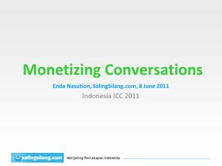 Monetizing Conversations