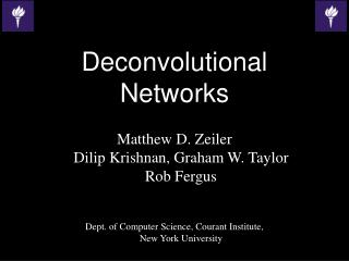 Deconvolutional Networks