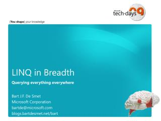 LINQ in Breadth