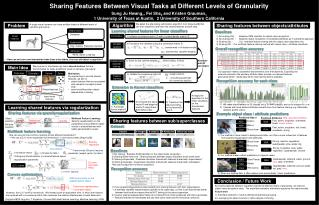 Sharing Features Between Visual Tasks at Different Levels of Granularity