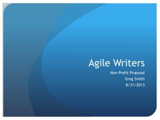 Agile Writers