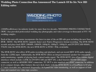 Wedding Photo Connection Has Announced The Launch Of Its Six