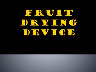 FRUIT DRYING DEVICE