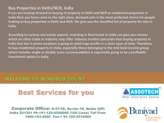 Windsor Court Noida @ Toll Free-1800-103-4500